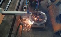 CNC Portable plasma flange cutting